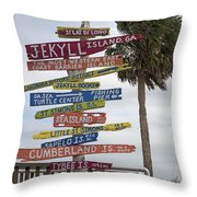 Jekyll Island Where To Go Throw Pillow