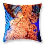 Jelly Atlanta Aquarium Ga Throw Pillow
