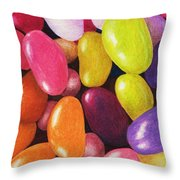 Jelly Beans Throw Pillow by Anastasiya Malakhova