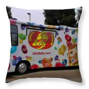 Jelly Belly On Wheels Throw Pillow