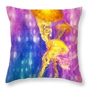 Jelly Fish Dance Throw Pillow