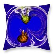 Jelly Fish Globe Throw Pillow