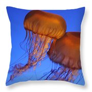 Jelly Fish In Harmony Throw Pillow