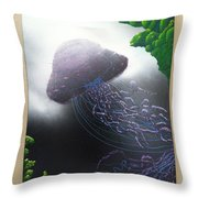 Jelly In The Abyss Throw Pillow
