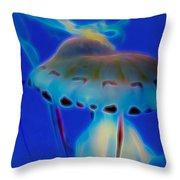 Jellyfish 2 Digital Artwork Throw Pillow