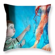 Jellyfish Boy Throw Pillow