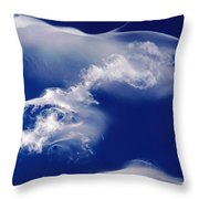 Jellyfish Clouds Throw Pillow
