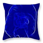 Jellyfish Fractal 2 Throw Pillow