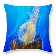 Jellyfish Fractal Throw Pillow