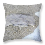 Jellyfish On The Sand Throw Pillow