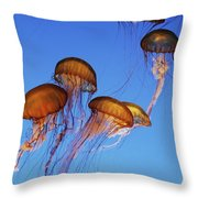 Jellyfish Swarm Throw Pillow