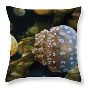 Jellyfish Swimming Right Throw Pillow