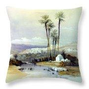 Jenin Ancient Jezreel 1839 Throw Pillow