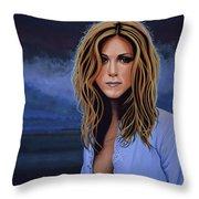 Jennifer Aniston Painting Throw Pillow