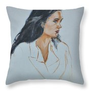 Jennifer Connelly Throw Pillow
