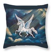 Jennifer's Ride Throw Pillow