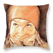 Jenny 2 Throw Pillow