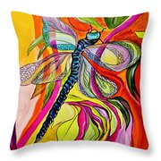 Jenny's Dragonfly In Acrylic Throw Pillow
