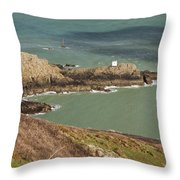Jerbourg Point On Guernsey - 3 Throw Pillow