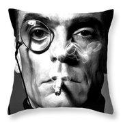 Jeremy Irons Portrait Throw Pillow