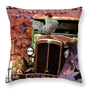 Jerome Mine Collage Throw Pillow