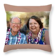 Jerry And Lorene Throw Pillow