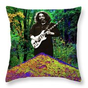 Jerry At The Cosmic Pyramid In The Woods  Throw Pillow