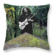 Jerry At The Pyramid In The Woods Throw Pillow