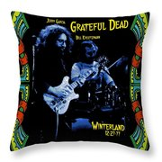 J G And B K At Winterland In 1977 Throw Pillow