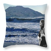 Jerry Garcia At Mt Tamalpaisland 2 Throw Pillow