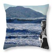 Jerry Garcia At Mt Tamalpaisland 3 Throw Pillow