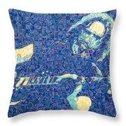 Jerry Garcia Chuck Close Style Throw Pillow