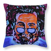Jerry Garcia-it's A Me Thing Throw Pillow by Bill Manson