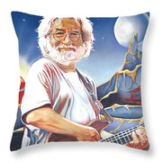 Jerry Garcia Live At The Mars Hotel Throw Pillow