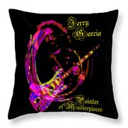 Jerry Garcia Painter Of Masterpieces Throw Pillow