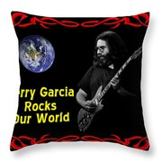 J G  Rocks Our World Throw Pillow