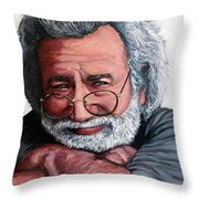 Jerry Garcia Throw Pillow