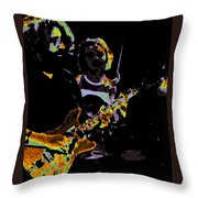 Jerry Gets Psychedelic At Winterland Throw Pillow