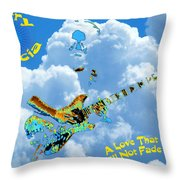 Jerry In The Sky With Love Throw Pillow