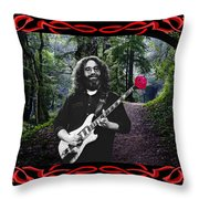 Jerry Road Rose 2 Throw Pillow