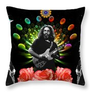 Jerry Spacepods Triple Jerry Ufo Roses Under Cosmic Sun Throw Pillow
