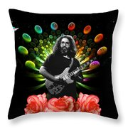 Jerry Spacepods Ufo Roses 1 Throw Pillow