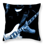 Jerry Stretches The Blues Throw Pillow