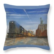 Jersey Central Lines Throw Pillow