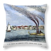 Jersey City, 1844 Throw Pillow
