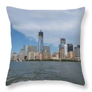 Jersey City And Hudson River Throw Pillow