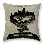 Jersey City Skyline Throw Pillow