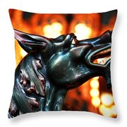 Jersey Devil Throw Pillow by John Rizzuto