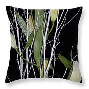 Jersey Lilies Throw Pillow