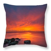 Jersey Shores Fire In The Sky Version 2 Throw Pillow